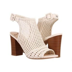 Sam Edelman Ecote Basket Weave Leather Heels 9.5M